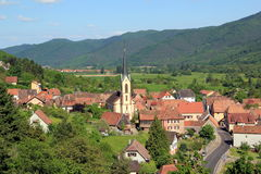 Gunsbach, village of Alsace Royalty Free Stock Photo