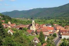 Gunsbach, village of Alsace. Village of Doctor Albert Schweitzer Royalty Free Stock Photo