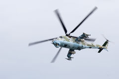 Gunship in Action. Combat helicopter in flight, ready for action Stock Images