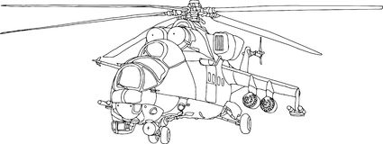 Gunship contour Stock Photography