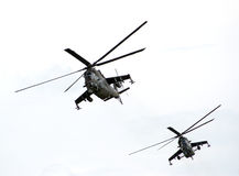 Gunships. Shot of a two helicopters royalty free stock photography