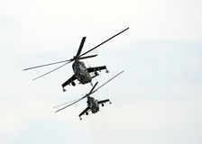 Gunships. Shot of a two gunships royalty free stock image