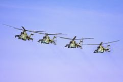 Gunships Formation Royalty Free Stock Photo