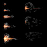 Gunshot animation Stock Image