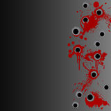 Gunshot blood splatter border background Stock Photos