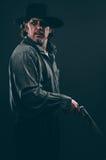 Gunslinger Диких Западов Стоковые Изображения