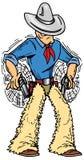 Gunslinger. Texas cowboy gunslinger twirling pistols Stock Illustration