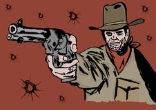 The gunslinger Stock Images