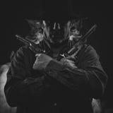Gunslinger ocidental selvagem Foto de Stock Royalty Free
