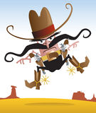 Gunslinger pazzesco Fotografia Stock Libera da Diritti