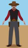 Gunslinger plano del vector Imagen de archivo libre de regalías