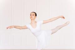 Gunst en schoonheid in haar bewegingen Stock Fotografie