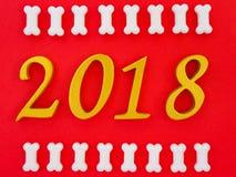 gunstig nieuw jaar 2018 stock afbeelding