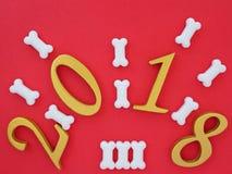 gunstig nieuw jaar 2018 royalty-vrije stock afbeeldingen