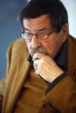 Gunter Grass. Author Gunter Grass, took part in a special panel discussion on April,2010,in Istanbul.The event marked the final stop of the Goethe Institut's Royalty Free Stock Photography