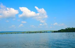 Guntersville Lake, bridge over Tennessee River Royalty Free Stock Photo