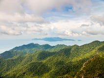 从Gunung席子Cincang的看法对北部 免版税库存图片