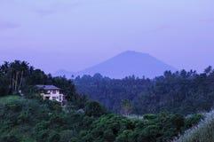 Gunung Agung em Bali fotos de stock