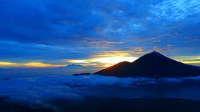 Gunung Batur巴厘岛 免版税库存照片