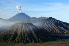 Gunung Bromo. Spectacular Gunung Bromo and Sumeru volcanoes in Jawa Stock Image
