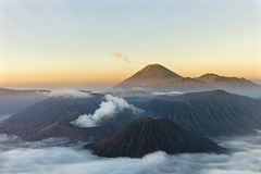 Gunung Bromo Volcano. Sunrise over Gunung Bromo Volcano in Indonesia Stock Images