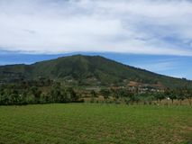 Mountain - dieng Royalty Free Stock Photos