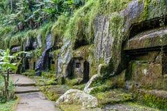 Gunung Kawi, antyczna świątynia i pogrzebowy kompleks w Tampaksiring, Bali, Indonezja zdjęcia stock