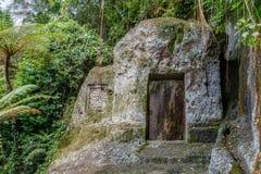 Gunung Kawi, antyczna świątynia i pogrzebowy kompleks w Tampaksiring, Bali, Indonezja zdjęcie stock