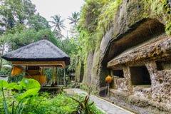 Gunung Kawi, antyczna świątynia i pogrzebowy kompleks w Tampaksiring, Bali, Indonezja obrazy royalty free