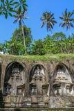 Gunung Kawi, antyczna świątynia i pogrzebowy kompleks w Tampaksiring, Bali, Indonezja obraz royalty free