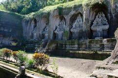 Gunung Kawi Bali vaggar snitttempel Fotografering för Bildbyråer