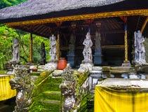 Gunung Kawi Candi w dżungli przy Bali i świątynia zdjęcie stock