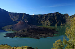 Gunung Rinjani. Crater of Gunung Rinjani volcano Lombok island Indonesia royalty free stock photography