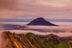 Gunung Sinabung Volcano eruptions Royalty Free Stock Photography