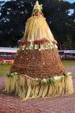 Gunungan, im Rahmen der wonosobo Jahrestagsfeier stockfotografie