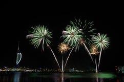 Gunwharf-Feuerwerke, Portsmouth Lizenzfreie Stockfotografie