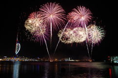Gunwharf-Feuerwerke, Portsmouth Stockfotos