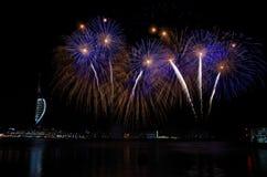 Gunwharf-Feuerwerke, Portsmouth Lizenzfreie Stockfotos