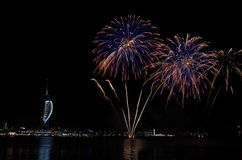 Spinnaker Tower Fireworks, Gunwharf Quays, Portsmouth Stock Photos