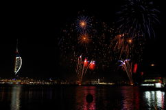 Spinnaker Tower Fireworks, Gunwharf Quays, Portsmouth Stock Photography