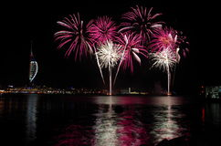Spinnaker Tower Gunwharf Fireworks, Portsmouth Royalty Free Stock Photos