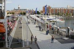 Gunwharf-Kais in Portsmouth england Lizenzfreie Stockfotos