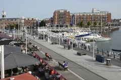 Gunwharf Quays at Portsmouth. England Royalty Free Stock Images