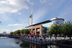 Gunwharf Quays Retail Village Stock Photography