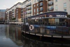 Gunwharf Quays Living accomodations. Gunwharf Quays shopping complex Portsmouth Royalty Free Stock Image