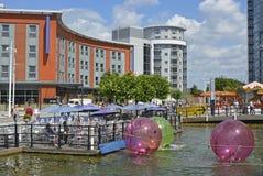 Gunwharf Quays zakupy centrum handlowe, Portsmouth, Anglia fotografia royalty free