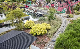 Gunzburg, ГЕРМАНИЯ - 8-ое августа: Legoland - мини Европа от кирпичей LEGO 8-ого августа 2015, Gunzburg, Германия Стоковые Изображения RF