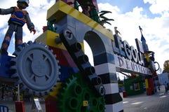 GUNZBURG, ALLEMAGNE - OCTOBRE 2013 - entrée de Legoland Legoland est situé en Bavière photographie stock