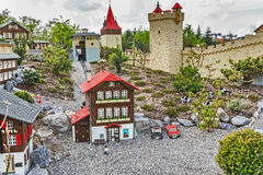 GUNZBURG GERMANY - APRIL 23: Miniland at Legoland Deutschland Royalty Free Stock Images