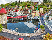 GUNZBURG GERMANY - APRIL 23: Miniland at Legoland Deutschland Stock Images
